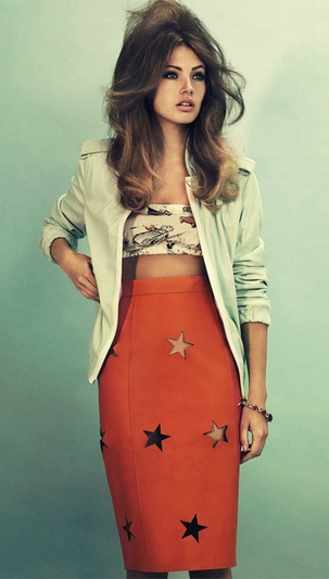 star cutout skirt by Acne