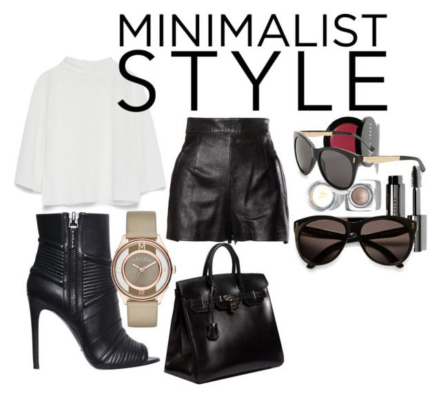 """Untitled #5"" by taniamin on Polyvore featuring Moschino, Pierre Balmain, Zara, Hermès, Bobbi Brown Cosmetics, Marc by Marc Jacobs and Jimmy Choo"