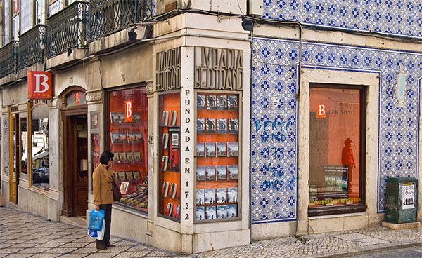 The oldest bookstore in the World (1732!): The Bertrand Bookstore, Lisbon. Portugal