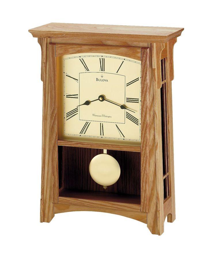 Миссия Дубовые Каминные Часы | Булова Гаррет