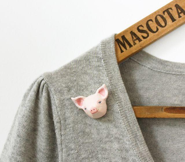 pig brooch