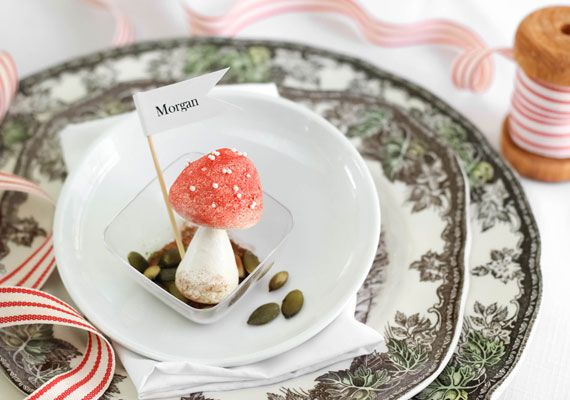 Make your own adorable meringue mushrooms.