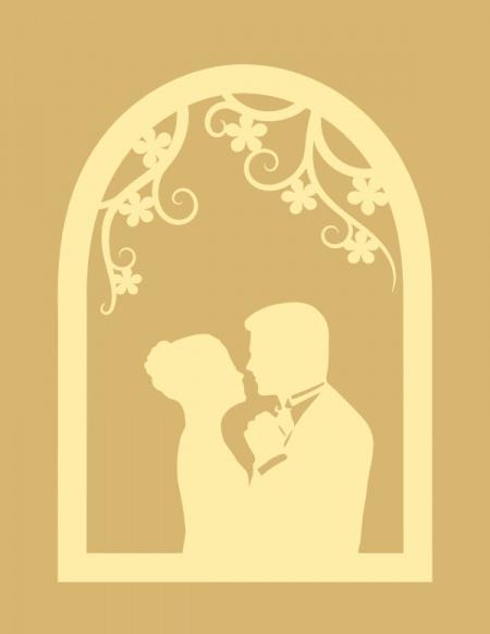 Romantic window silhouette svg