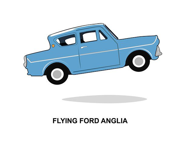 Flying Ford Anglia Harry Potter On Behance