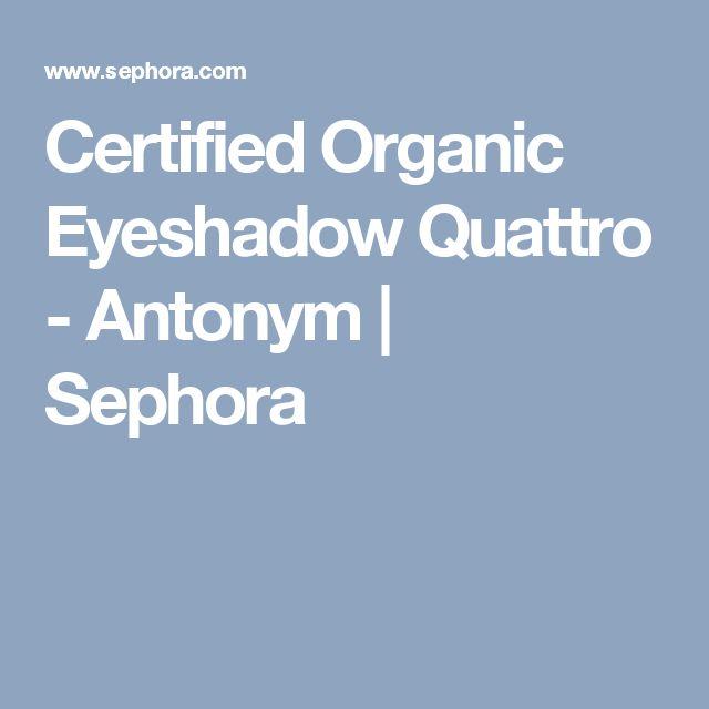 Certified Organic Eyeshadow Quattro - Antonym | Sephora