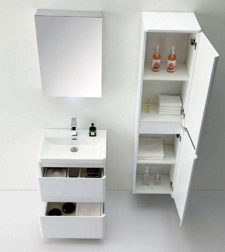 zenit wall mounted tall bathroom cabinet white gloss storage units furniture - How Tall Is A Bathroom Vanity