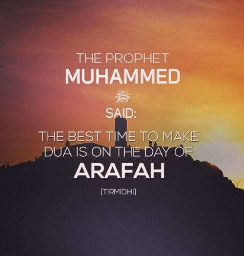 Share your du`aa' on the `Arafah day with your fellow brothers and sisters and we all will say ameen.