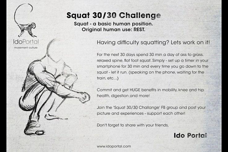 Ido Portal Squat 30/30 challenge