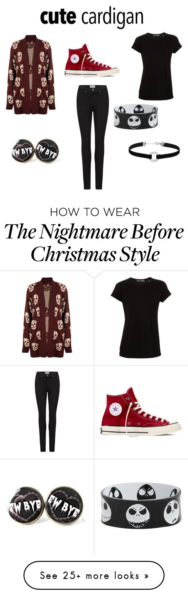 """""""Skull"""" by lilly0441 on Polyvore featuring WearAll, Vince, Paige Denim, Converse and Miss Selfridge"""