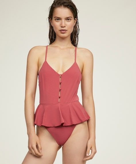 84721529427fb Triangle swimsuit with skirt, 29.99€ - Triangle swimsuit with ruffle  detail. - Find more trends in women fashion at Oysho .
