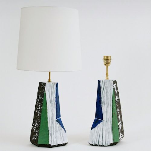 Salvatore Parisi - Sculptural Ceramic Lamp Bases « Cliff » www.galerieriviera.com