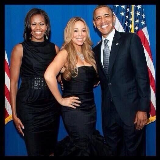 Mariah and the Obama family