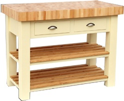 Added length in a chop block means you can double up your unit as a kitchen island too.