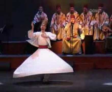 Mevlana Rumi's Whirling Derwishes of Damascus in Amsterdam. --  Whirling Dervishes practice whirling as a form of dhikr (remembrance of God) - Dervish is a common term for an initiate of the Sufi path.