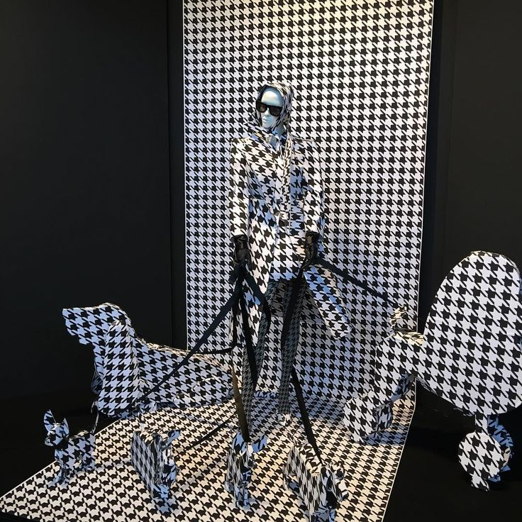 "MODEFABRIEK AMSTERDAM, The Netherlands, ""A girl's wardrobe could always use more houndstooth"", photo by Studio NEON, pinned by Ton van der Veer"