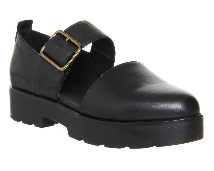Vagabond Aurora Cutout Black Leather - Mid Heels