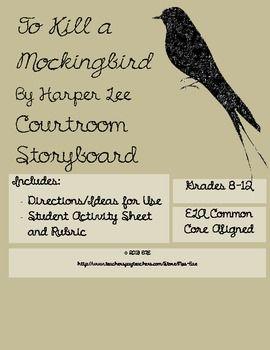 To Kill a Mockingbird Courtroom Storyboard $