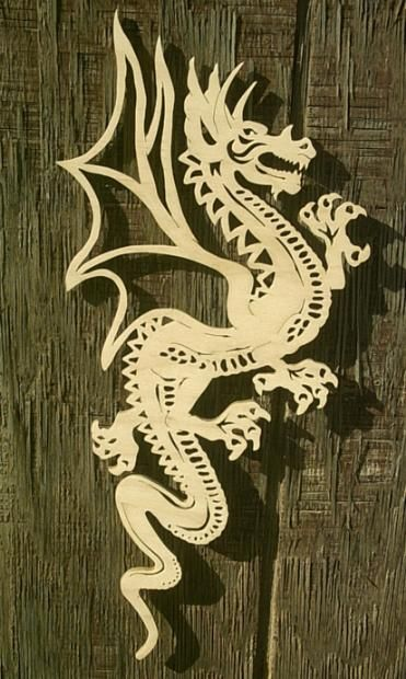 Dragon Scroll Saw Art