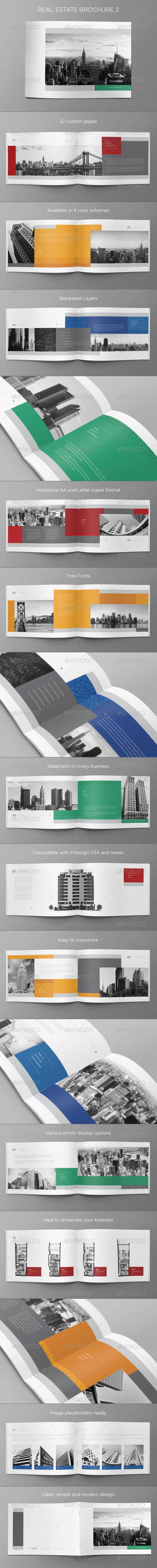 Real Estate Brochure 2 — Vector EPS #red #architecture • Available here → https://graphicriver.net/item/real-estate-brochure-2/5935898?ref=pxcr