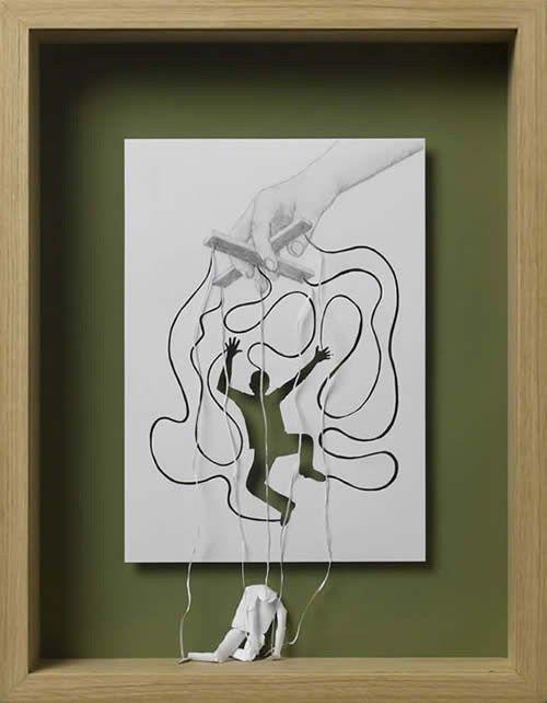 Arte em papel (A4) criada por Peter Callesen