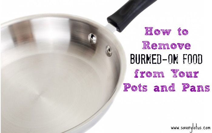 how to clean stainless steel pots with burnt on food