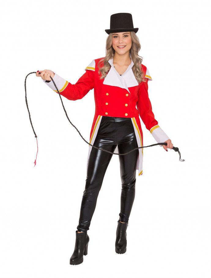 jacke zirkusdirektor rot damen