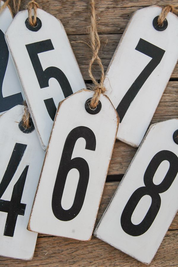 An easy tutorial for turning thin plywood scraps into the perfect distressed number tags. Littlehouseoffour.com