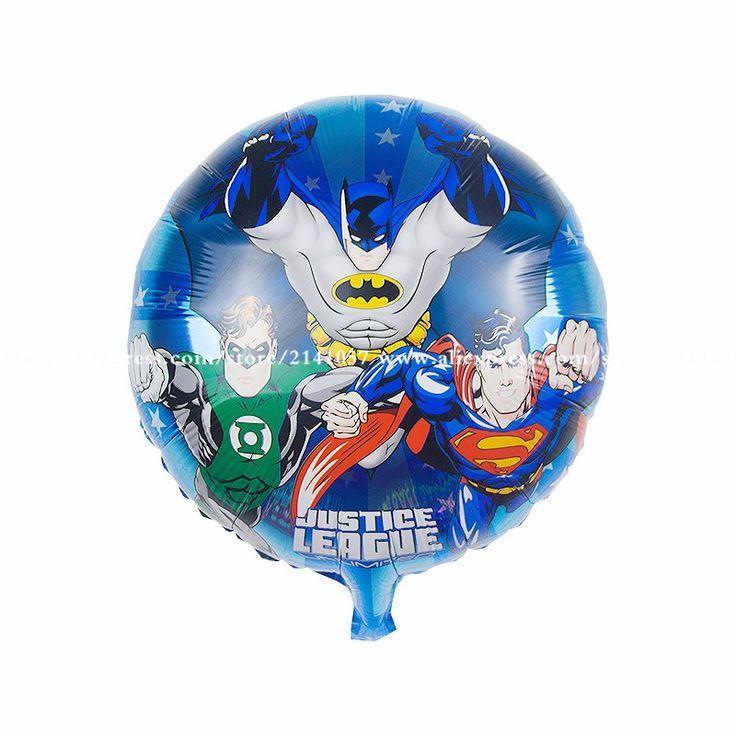 Воздушные шары День Рождения Украшения Бэтмен супермен воздушные шары Детские Дети Подарок партии Мультфильм Шары 50 шт./лот 18