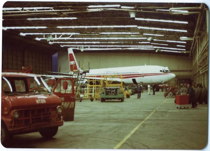 TWA 707 Hangar 12 JFK c1980