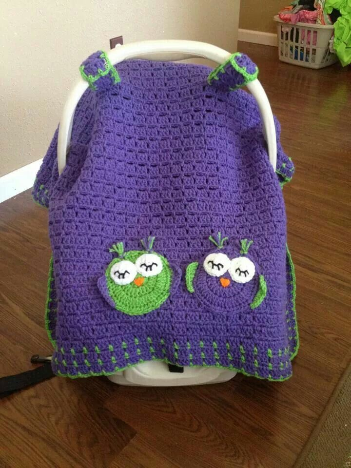 Owl car seat cover