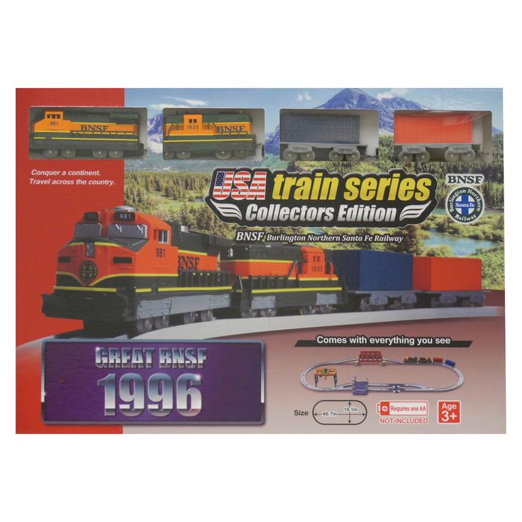 Lec 1996 Bnsf (Burlington Northern Santa Fe) Battery Operated Train Set