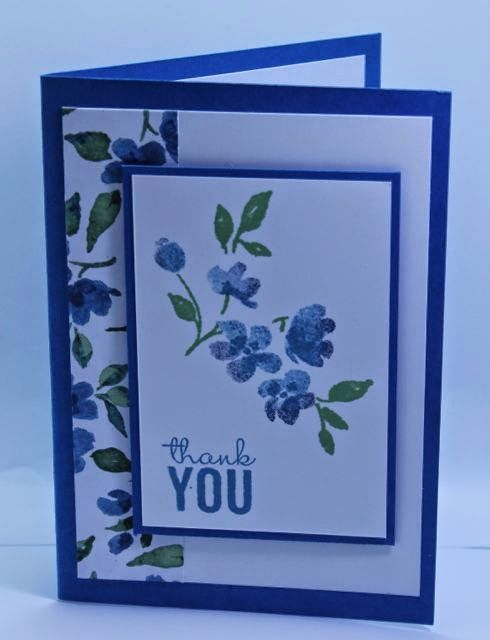 "By Andrea, Uses stamps from ""Painted Petals"" by Stampin' Up."