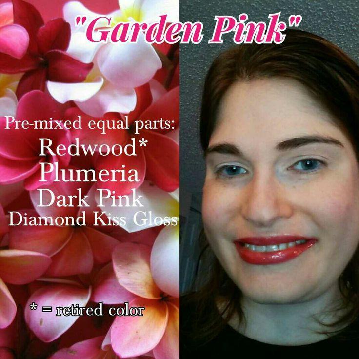 #LipSense Redwood, Plumeria, and Dark Pink pre-mixed equal parts with Diamond Kiss Gloss