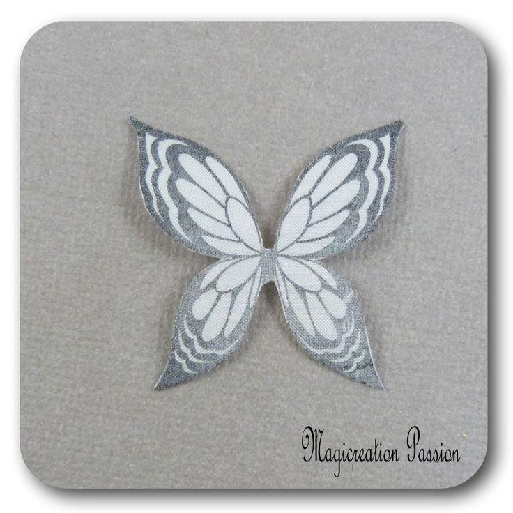 ailes de papillon 3.5 cm soie blanc -Ysatis : Décoration d'intérieur par les-tiroirs-de-magicreation-passion