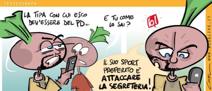 Anche l'#amore è un fatto politico: tornano le #TestediRapa #satira #humor #vignette