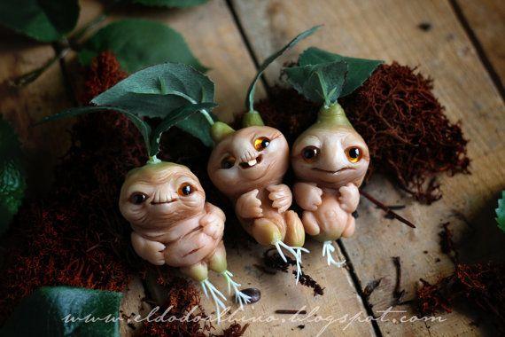 Three little mandrakes!! So beautiful! By Eldodoalbino or  Cristobal Graciá Salgado