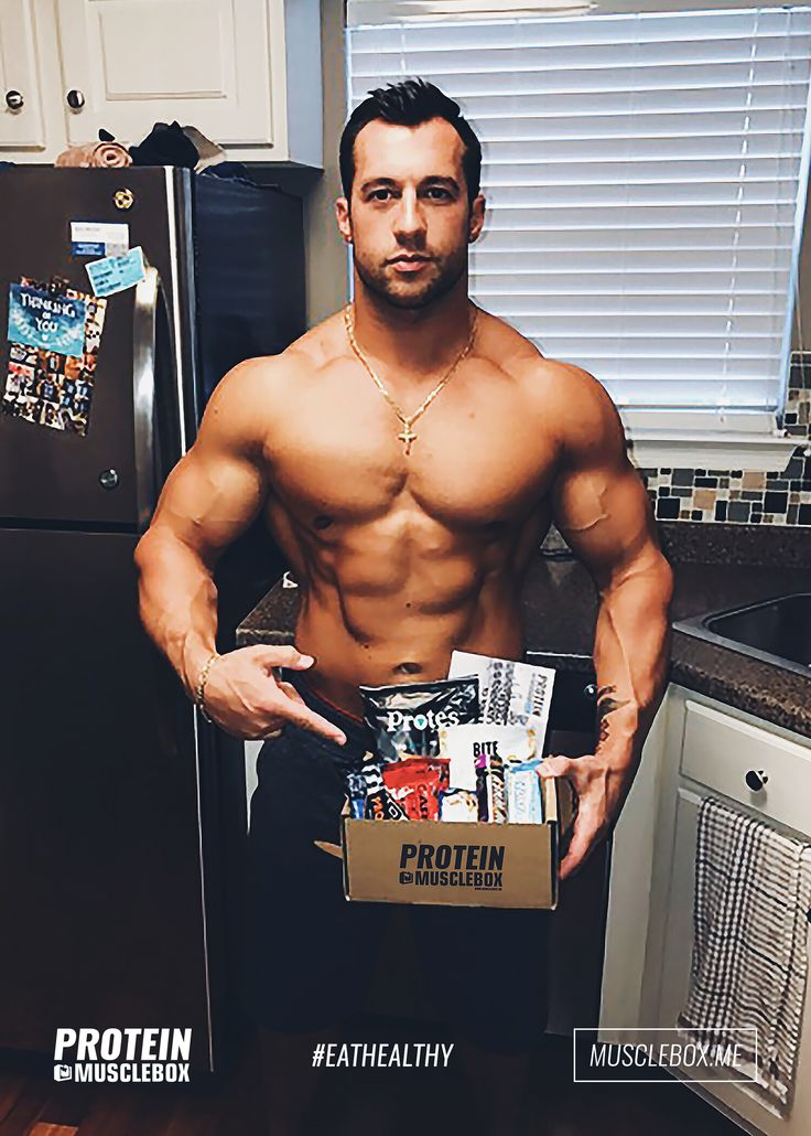 Getting his daily fix of protein from our famous Protein Box. #eathealthy