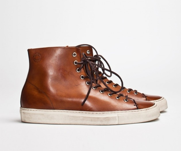 BUTTERO – TANINO LEATHER HI-TOP SHOES