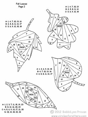 free printable iris folding patterns, iris folding leaves part 2 by KDFrost