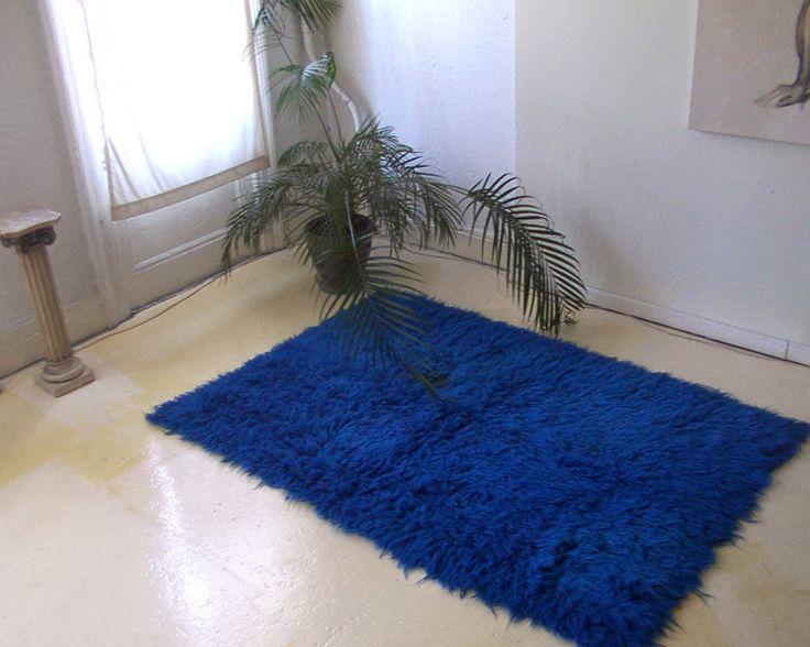 Cobalt Blue Flokati Rug Flokati Shag Colors Flokati