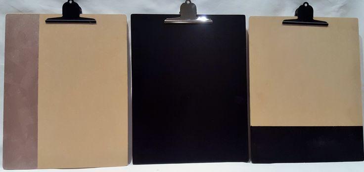 Clipboards, black, bronze, handmade