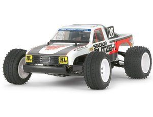 The Tamiya Stadium Blitzer is the latest in a long line of radio control cars from the past that have been re-released by Tamiya in 1/10 scale. This rc radio control off-road truck gives great performance at a great price with its all new oil filled shock absorbers giving great handling over all those bumps and jumps.