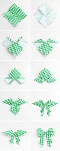 Laço de Origami Passo a Passo