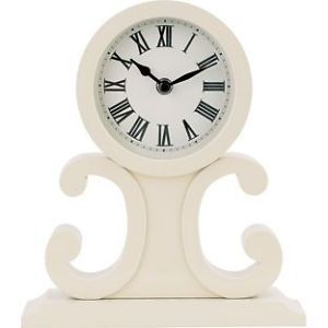 NEW ROCOCO CURLY CREAM MANTEL CLOCK FREE STANDING 772464 | eBay