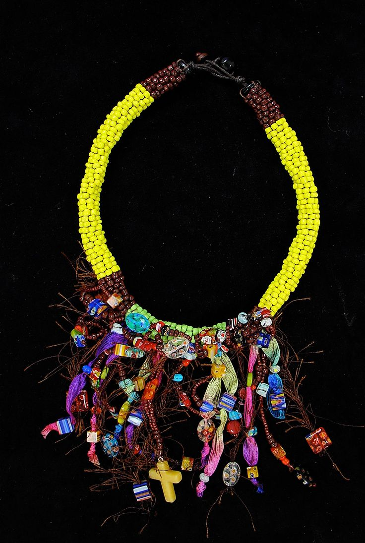 One of my Curiepe's collection piece, inspired on the indigenous cultures of Latin America. To see more of my jewelry visit my website!  #fashion #necklace #fashionstatement #oneofakind #unique # jewelry #Venezuela #Colombia #accessories #ethnic