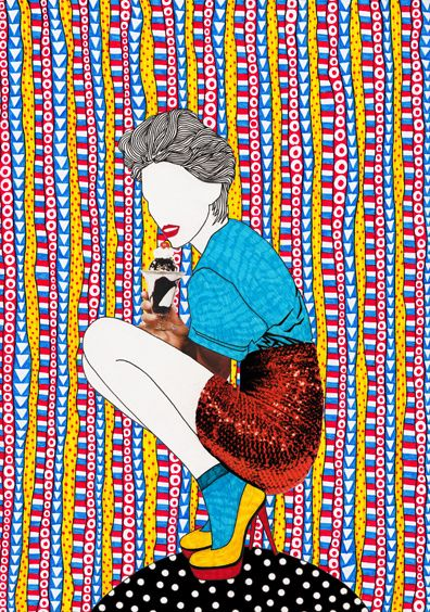Nikki Farquharson - Found a couple of mixed media artist illustrators that I love the work of. There are some similarities between both of their works, both have a collage feel and make fantastic use of different colo…