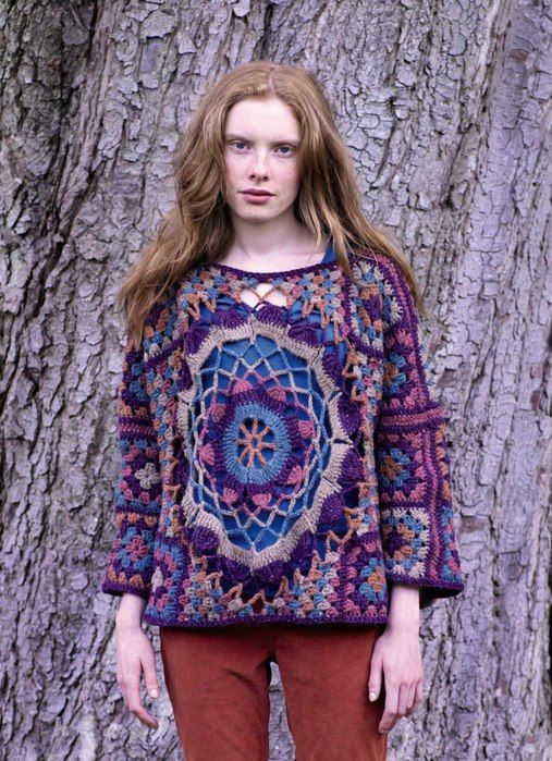 """Granny Square & Motif Sweater""...Great!"