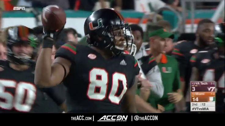 Virginia Tech vs Miami College Football Condensed Game 2017