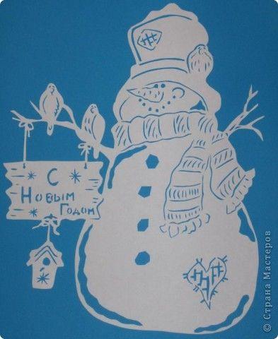 Картина панно рисунок Новый год Вырезание Зимние картинки Бумага фото 2