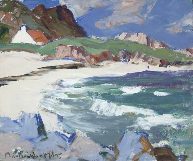 Seascape, Iona by John Maclaughlan Milne (1886-1957)